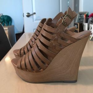 Cognac Mossimo Supply Co. Wedges